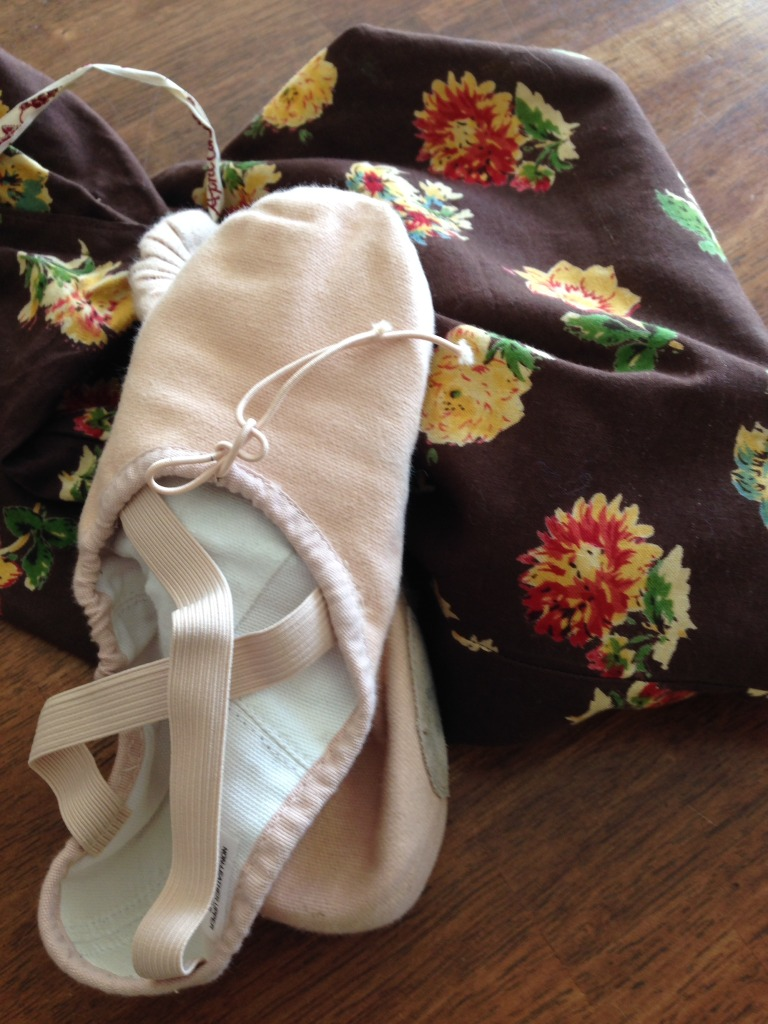 ballet shoes and bag
