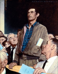 Freedom of Speech Norman Rockwell