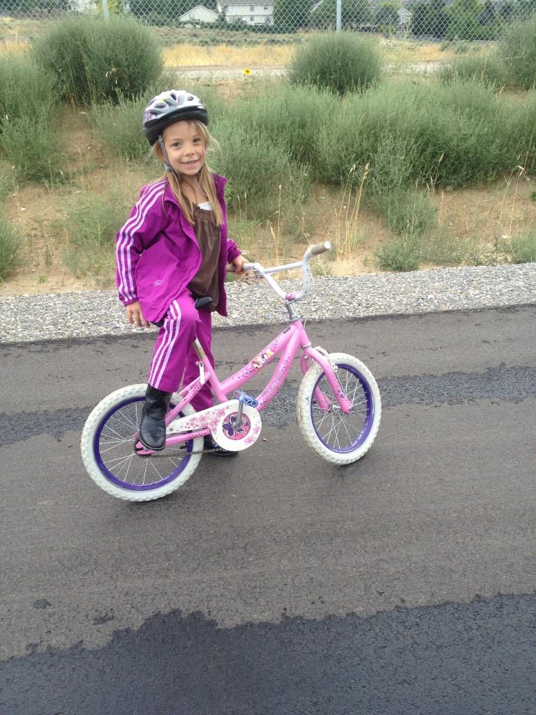 Anna on bike