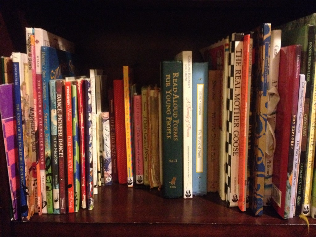 Music/poetry shelf