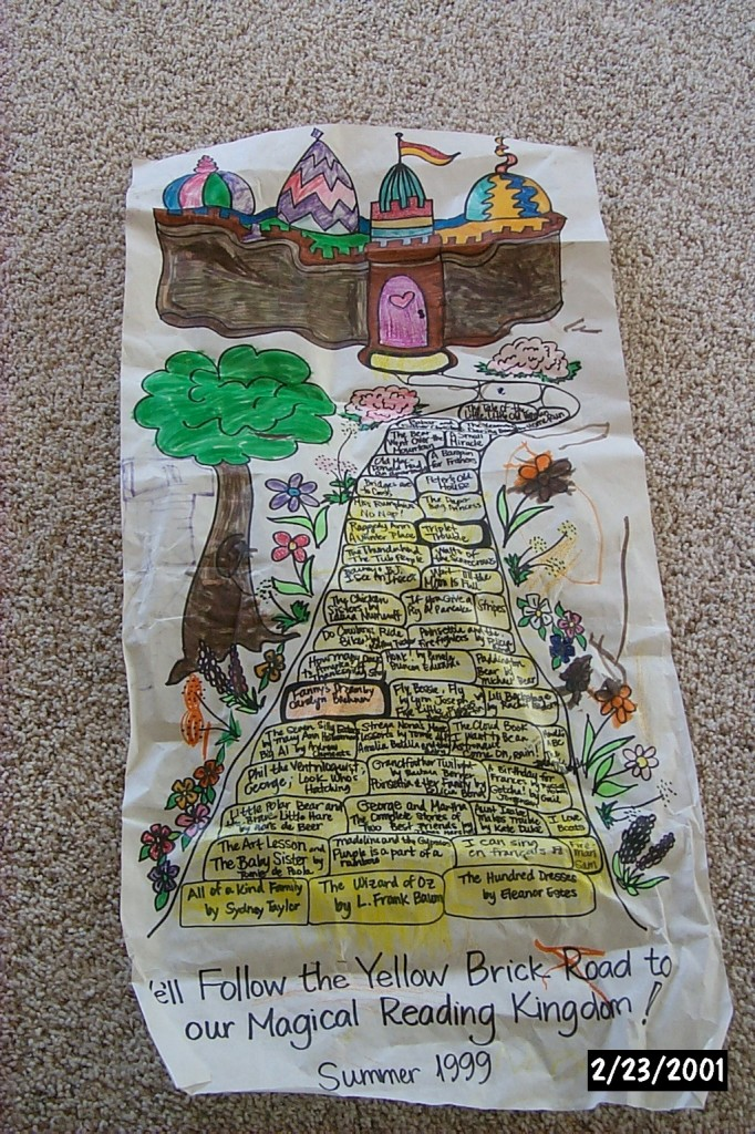 Yellow brick road reading chart