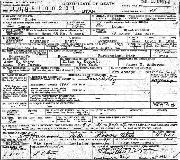 MMW 1857 birth certificate