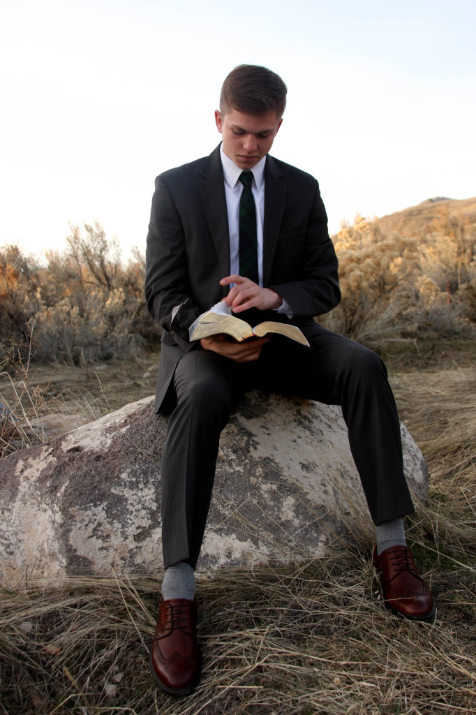 Elder Livi pre-mission scriptures on rock