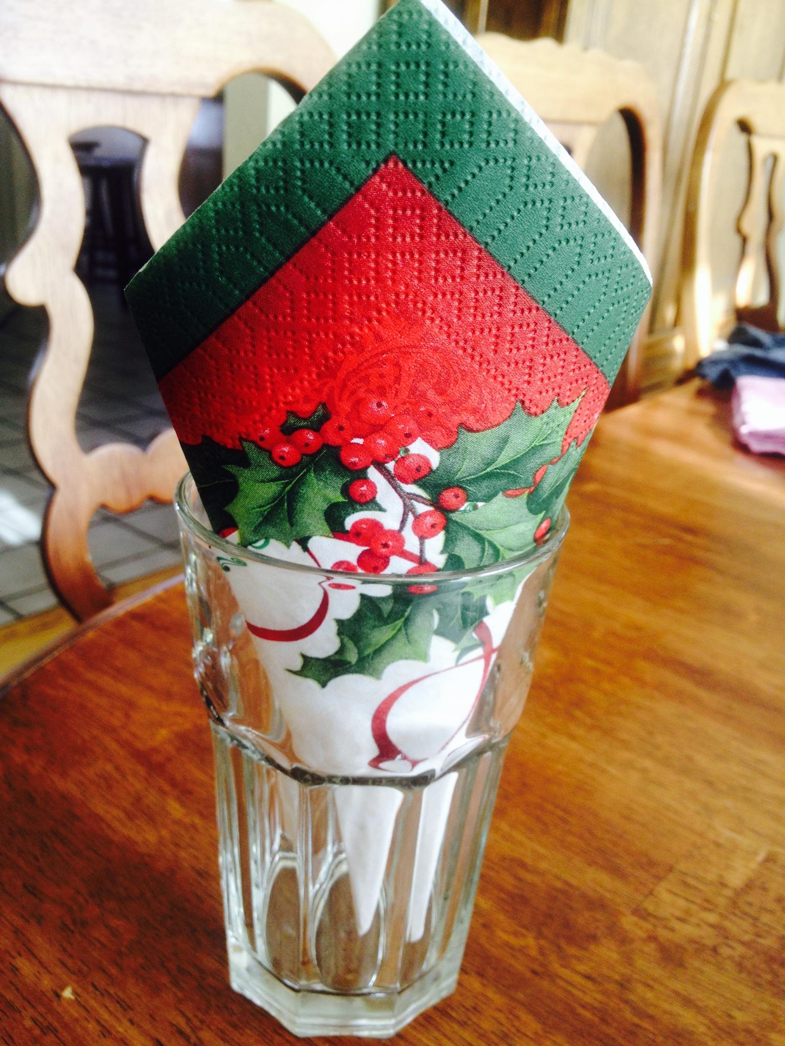 Welcome Christmas napkin