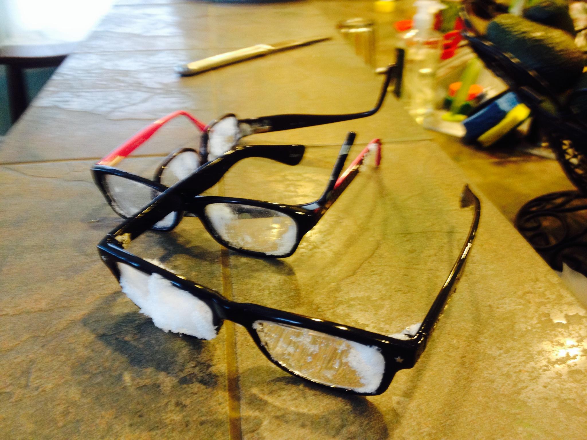snowy glasses