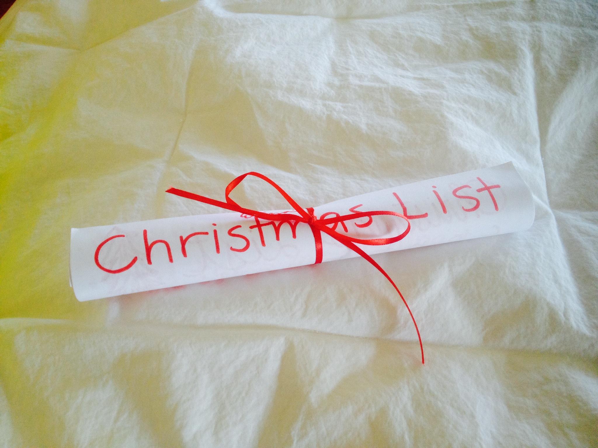 Eliza's Christmas list