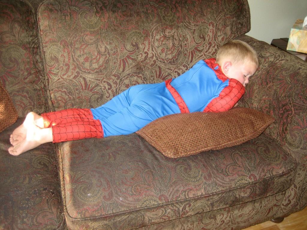 sleeping Spiderman Pete