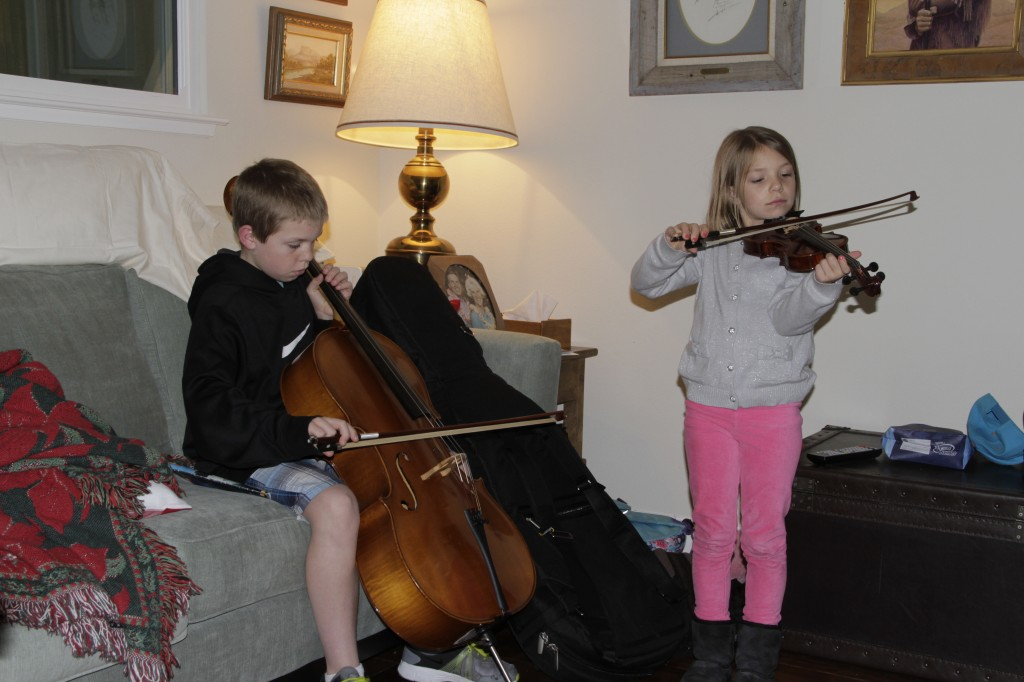 Peter and Anna new cello and violin