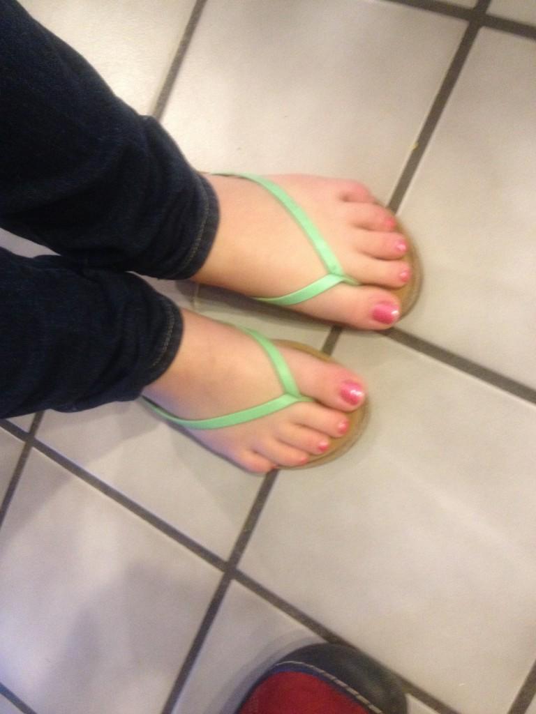 flip flops in February