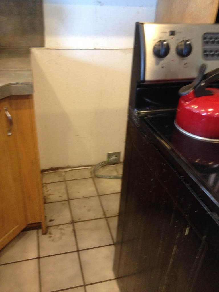 oven out for tile repair