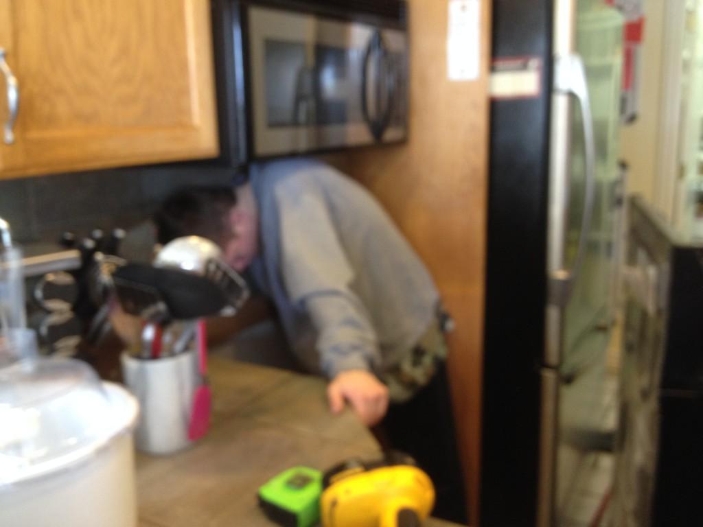 Nate fixing tiles
