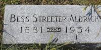 Bess Streeter Aldrich's headstone