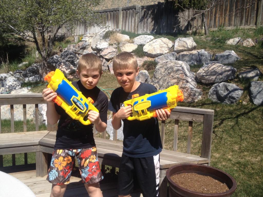 water gun boys Jackson Peter