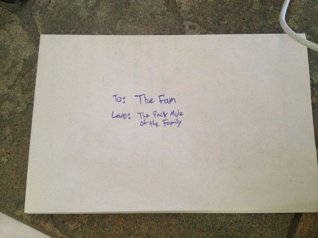 letter from Nate