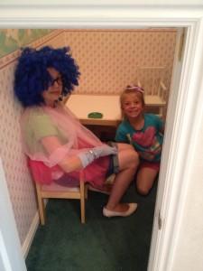 dressing up at Grandma's