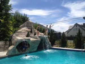 neighbor's pool