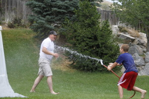 water hose slip n slide
