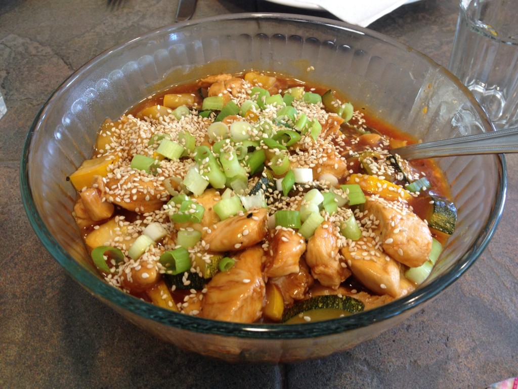 Chinese honey sesame chicken