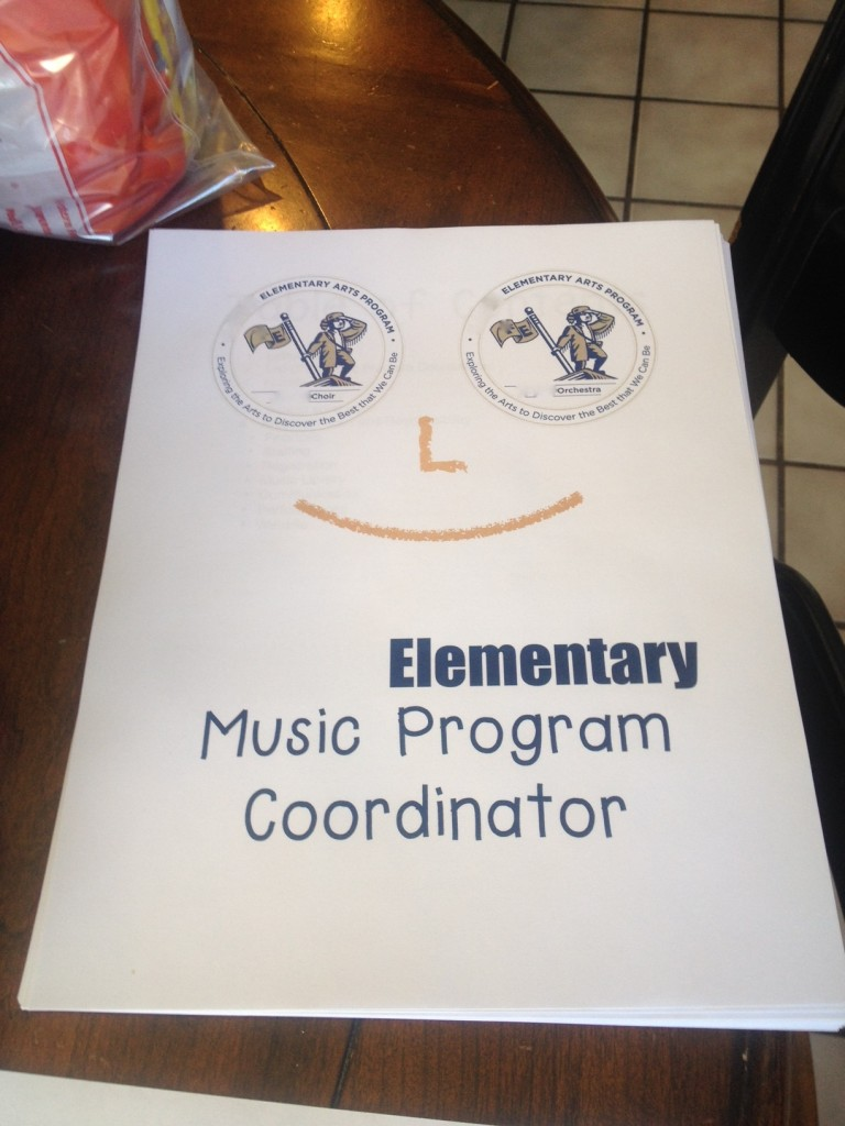 Music Program Coordinator Binder cover