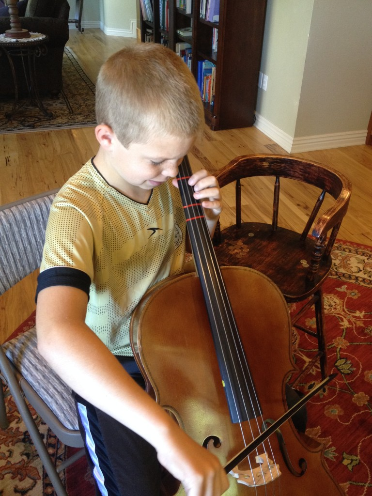Peter playing cello