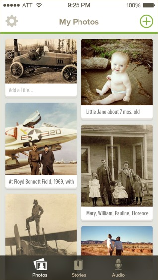 Family Search Memories app