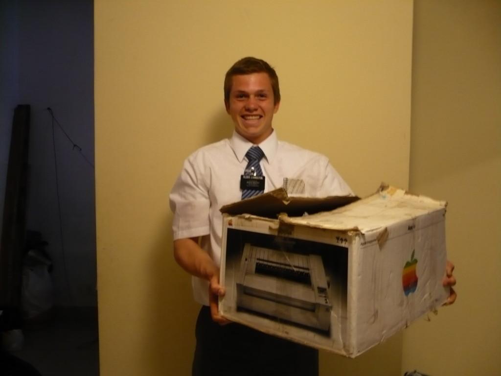 Elder Livi with printer