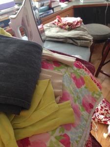 Ironing pile