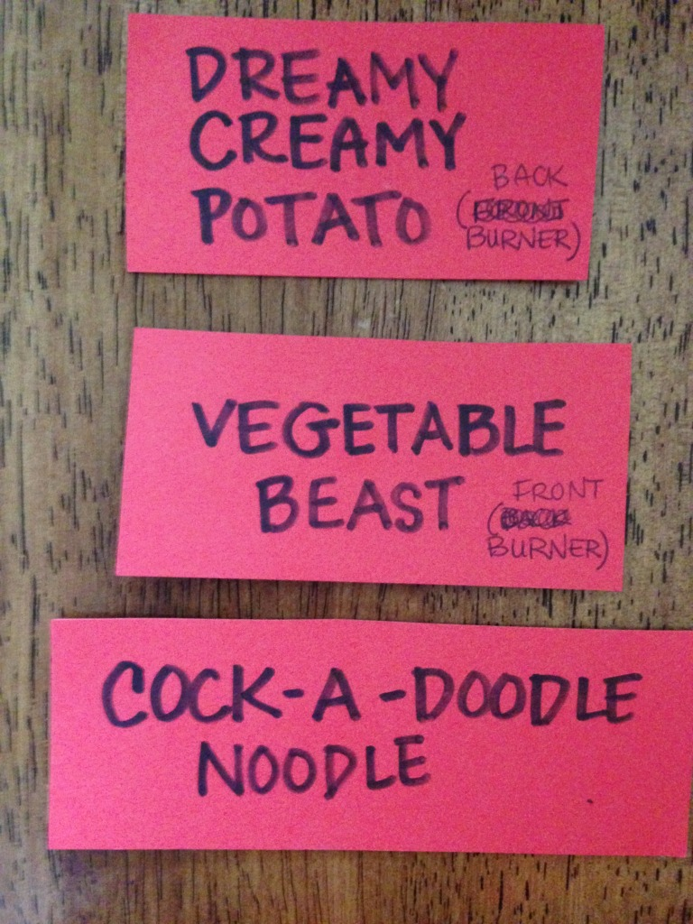 Christmas soup labels
