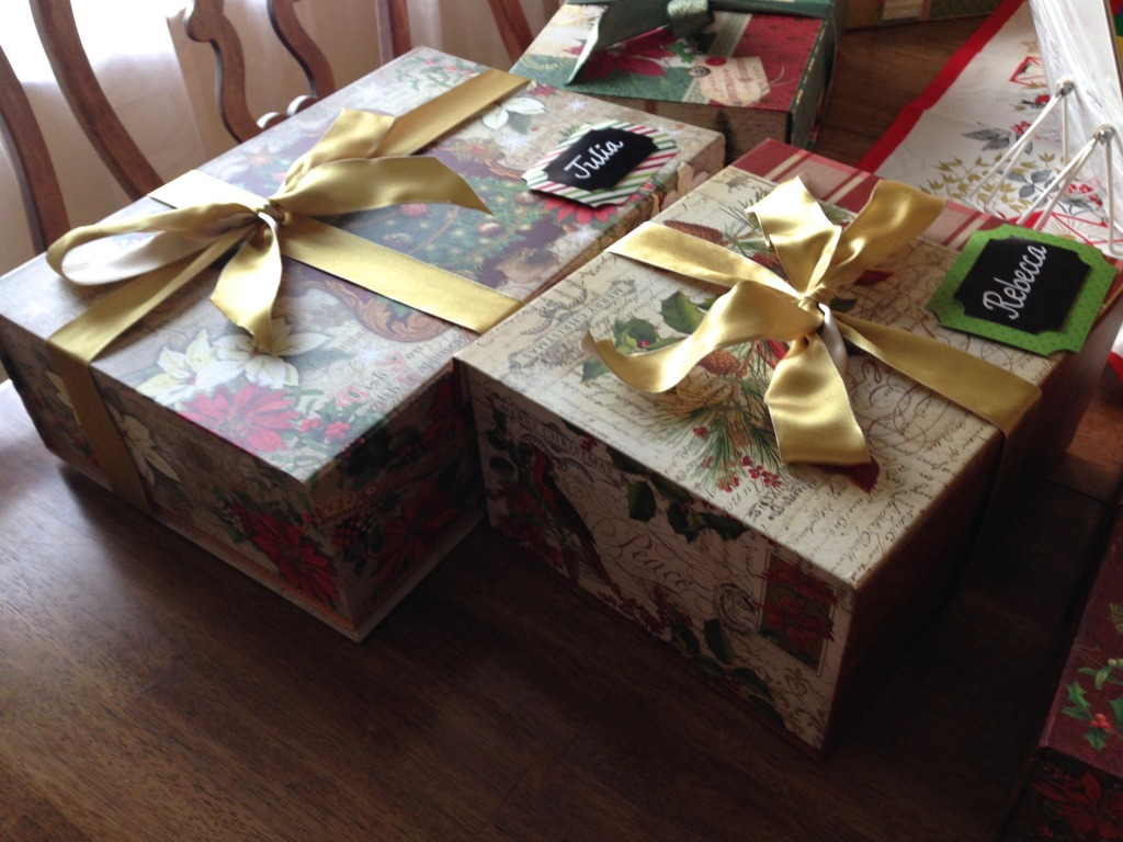 Gift boxes and tags