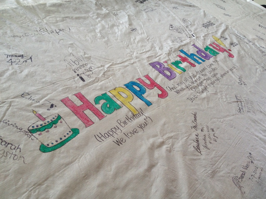 birthday tablecloth