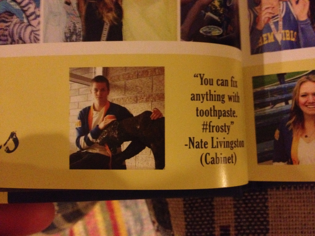 Nate toothpaste yearbook