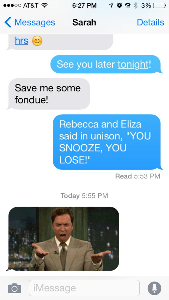 save me some fondue text