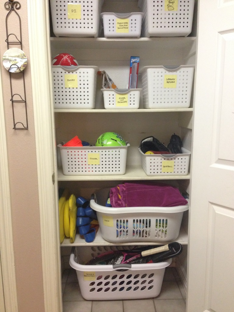 clean laundry closet repurposed