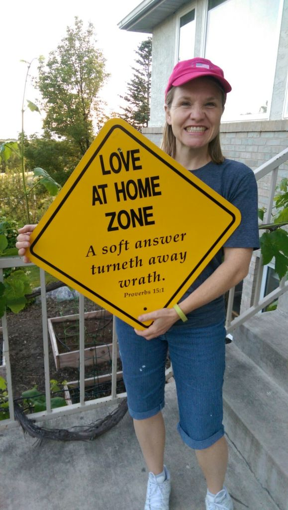 Love at Home Zone sign