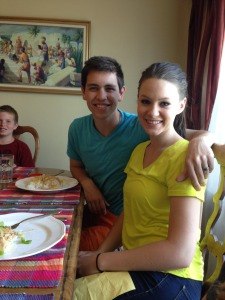 David and Beth birthday dinner 2015