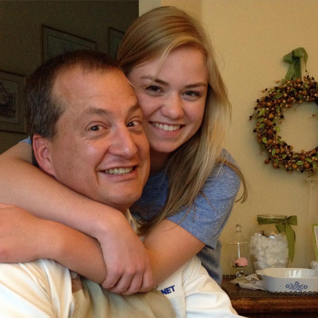 Julia Lane birthday hug