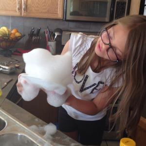 dish soap sculpture