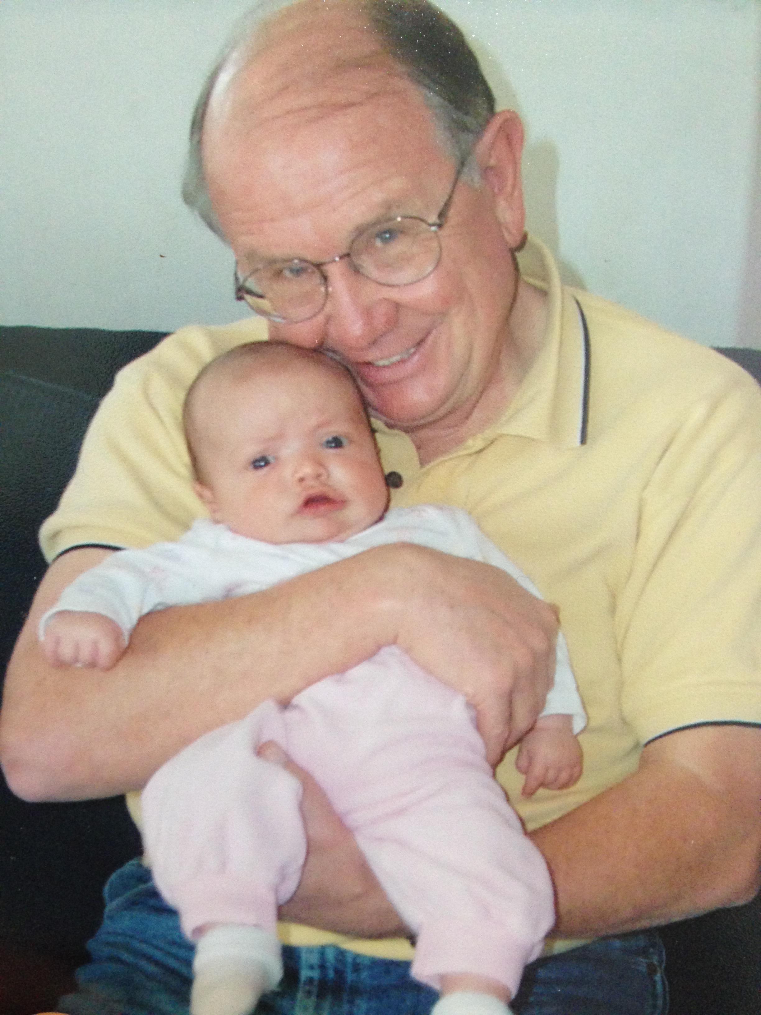Grandpa Morley with Eliza