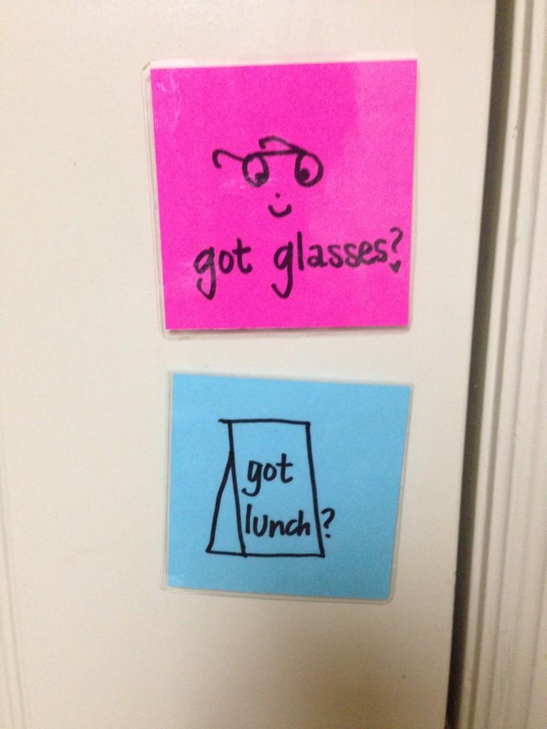 got lunch got glasses door magnets