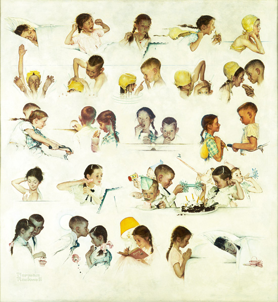 Day in the Life of a Little Girl Norman Rockwell