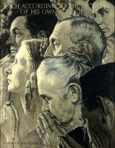 Freedom of Worship Norman Rockwell