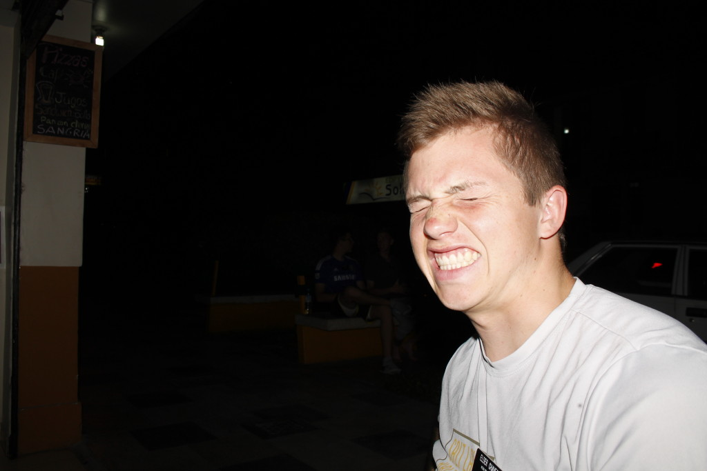Elder Livi laughing