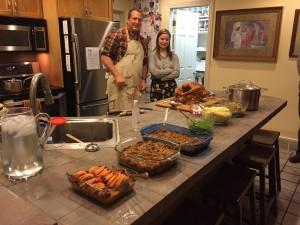 Lane and Sarah on Thanksgiving