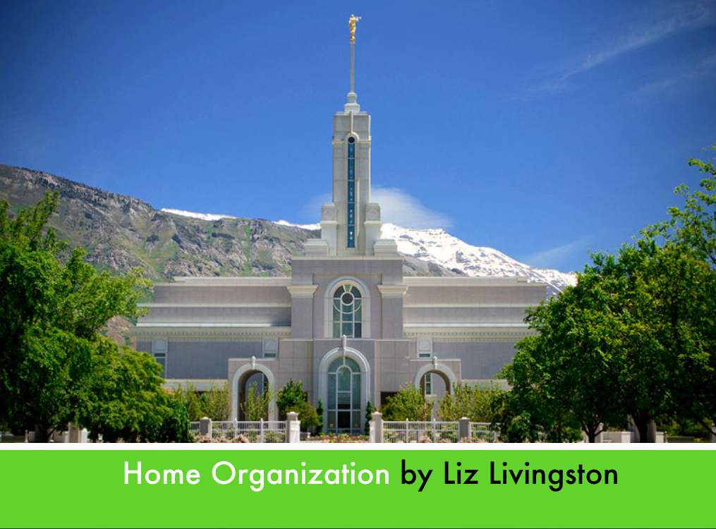 Home Organization lesson slide
