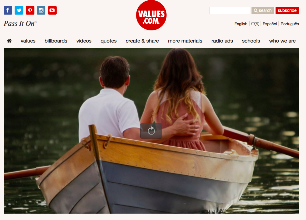 Click on this image to go to the video at values.com.