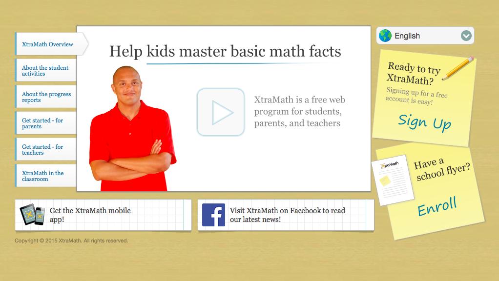 Xtra Math website summer