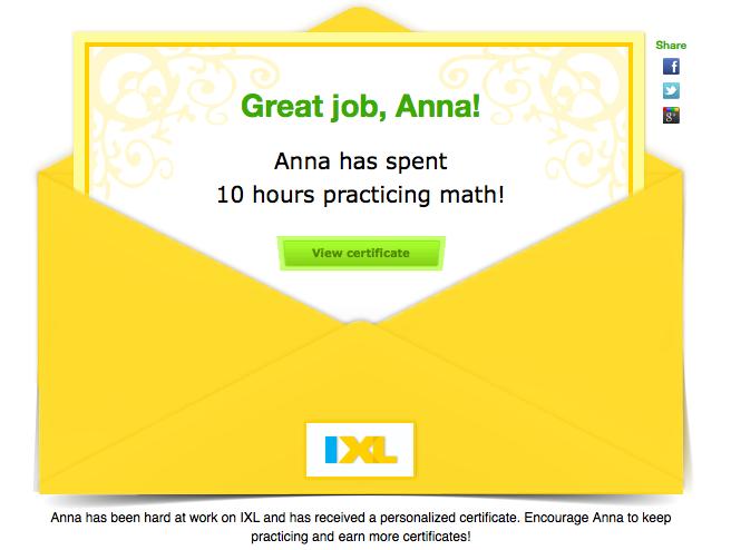 Summer math IXL
