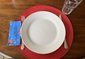 Patriotic everyday fabric napkin